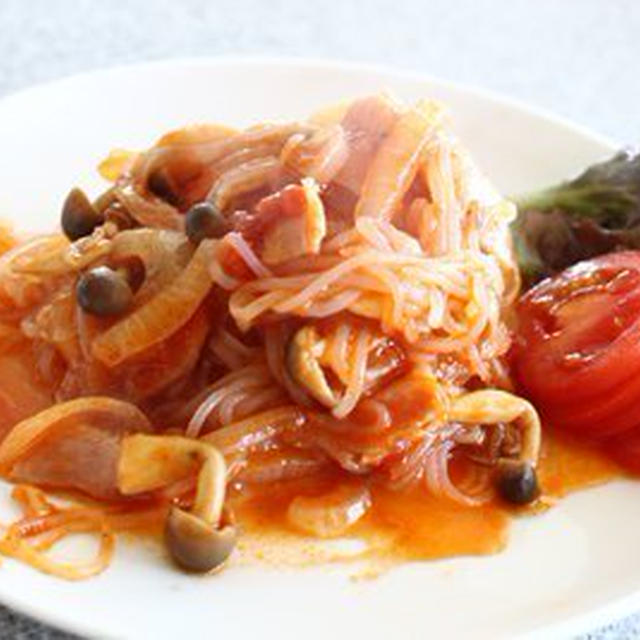 ゼンパスタレシピ トマトソースのしらたきパスタがなかなか旨い