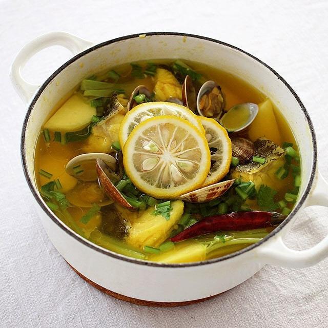 Saffron-Spiced Seafood & Turnip Pots