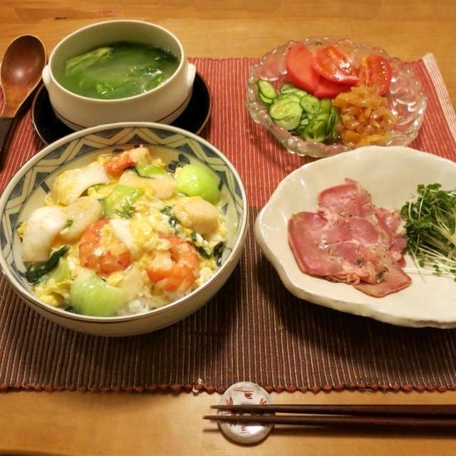 海鮮卵とじご飯の献立 と 『あべのハルカス』で大阪のおばちゃんと間違えられる(/_;)