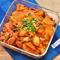 味付け簡単。豚肉と大根のキムチ炒め