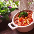 野菜たっぷりミネストローネで朝べジスープパスタ by MOMONAOさん