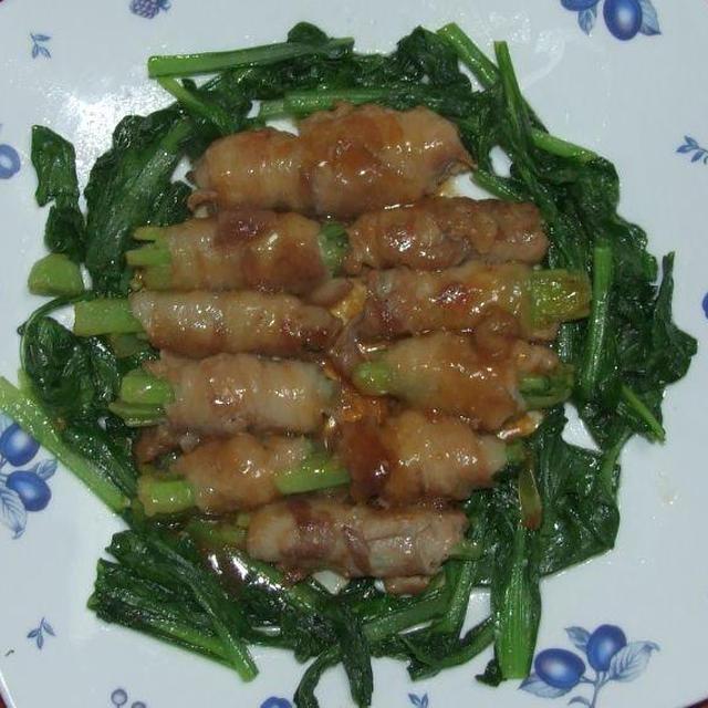 豚肉の野菜巻き&肉団子あんかけ白菜