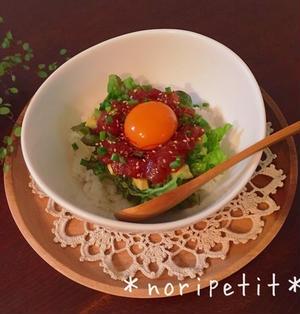 簡単♡カフェ風♡アボカド&マグロユッケ丼♡とPEANUTS cafe♡