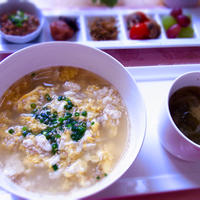 ロカボ! もち麦と豆腐の中華卵雑炊 & 最近の晩ご飯は・・