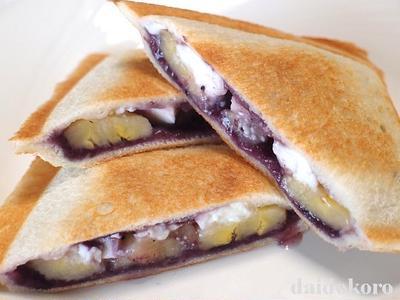 ブルーベリーとバナナのホットサンド | ワイルドブルーベリー