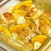 カット済みチキンと野菜の簡単オーブン焼き