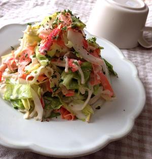 春キャベツと新たまねぎのコールスロー風サラダ