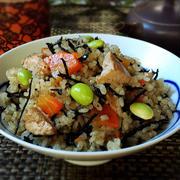 豆腐とひじきの炊き込みご飯
