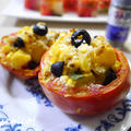 ポテサラでトマトのファルシ、こんがりオーブン焼き by quericoさん