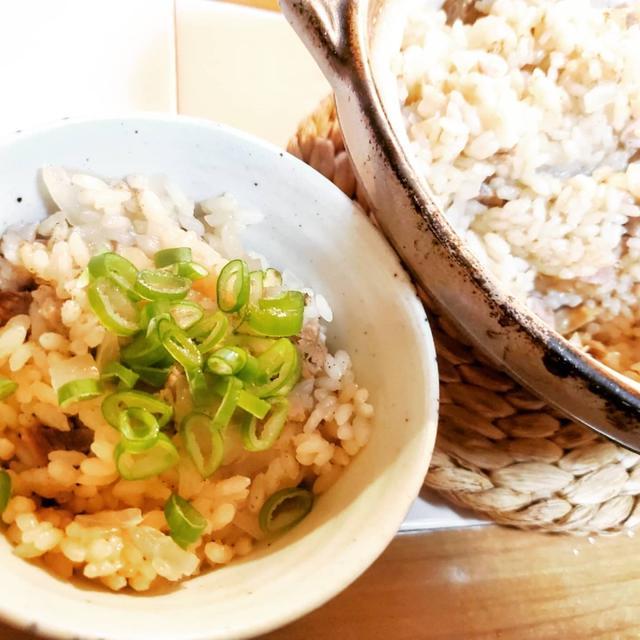 チャーシューの土鍋炊き込みご飯