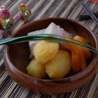 圧力鍋で【豚バラブロック肉】をトムヤムクン風味に煮て♪♪