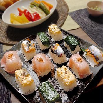 簡単!ぱくっと一口押し寿司