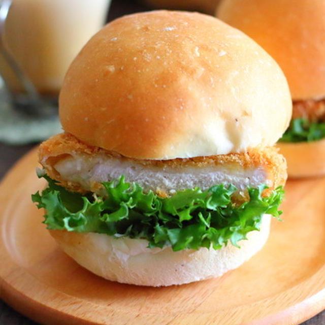 簡単なまるパンで豚カツバーガー ホームベーカリー使用レシピ