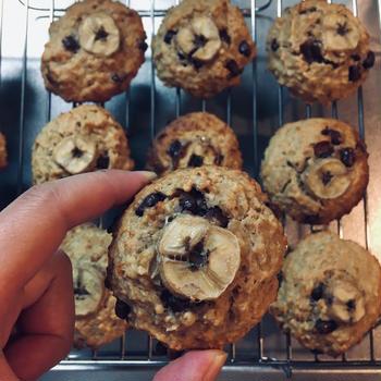 【レシピ】バナナ消費  オートミールチョコチップバナナソフトクッキー