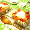 サーモンに彩り野菜たっぷり♪ わさびオリーブオイル醤油でいただく★ お手軽モッァレラサラダ