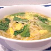 レタスとえのきとふんわりたまごの和風スープ