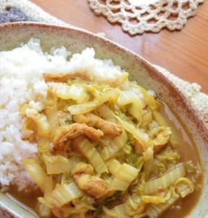 白菜と油揚げの クイック和風カレー ☆