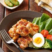 スタミナ塩チキン【#作り置き #下味冷凍 #お弁当 #おつまみ #ポリ袋 #揉んで焼くだけ #主菜】