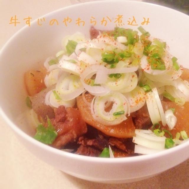 【レシピ】炊飯器で牛すじのやわらか煮込み