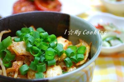 舞茸ともやしのキムチ丼と「小話」秘話