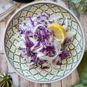 新玉ねぎと紫キャベツのエスニックサラダ