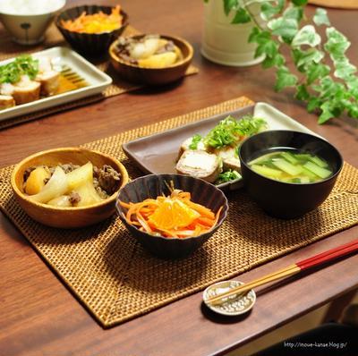 《糖質オフおかず:厚揚げの豚肉巻きおろし酢醤油で》と昨日は東京でお仕事
