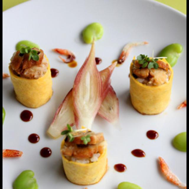 ちょっとのうなぎで豪華に♪卵ロール寿司♪