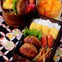 【今日のおべんと】肉団子の具だけどバーグ状にした弁当(笑)