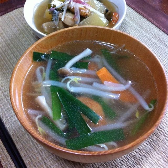 コンビニつくねの中華スープ