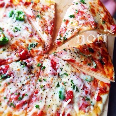 発酵いらず!食べるまで30分!時短ピザ