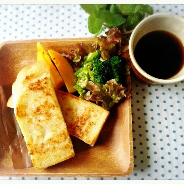 冷凍常備食パン使って♡フライパンdeカリカリトーストですよ~(*^^*)