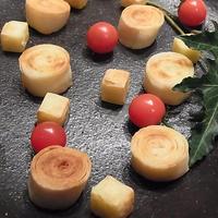 こんなおつまみはいかが?*まきまきチーズ+こんがり焼けるチーズ♪*