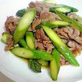 アスパラと豚肉deスタミナ焼