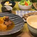 ほっこり煮物で和食晩ごはん‥今朝の富士山