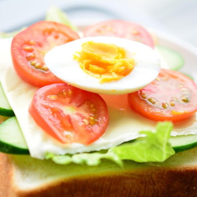 朝時間jp「今日のイチオシ朝ごはん」掲載  ♪ フレッシュオープン サンドイッチ
