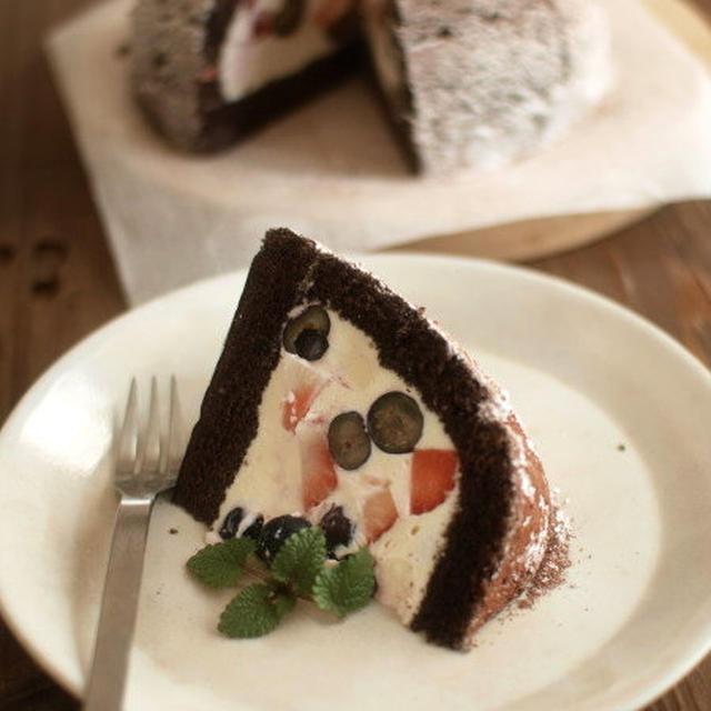 ズコット風・レアチーズドームケーキ。