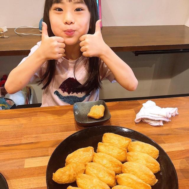 朝ごはんはお稲荷さんです!!