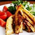toumonさんの焼筍サラダと新じゃがのキンピラ。