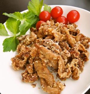 節約簡単☆豚こま肉の唐揚げ~北海道ラム肉のザンギ風