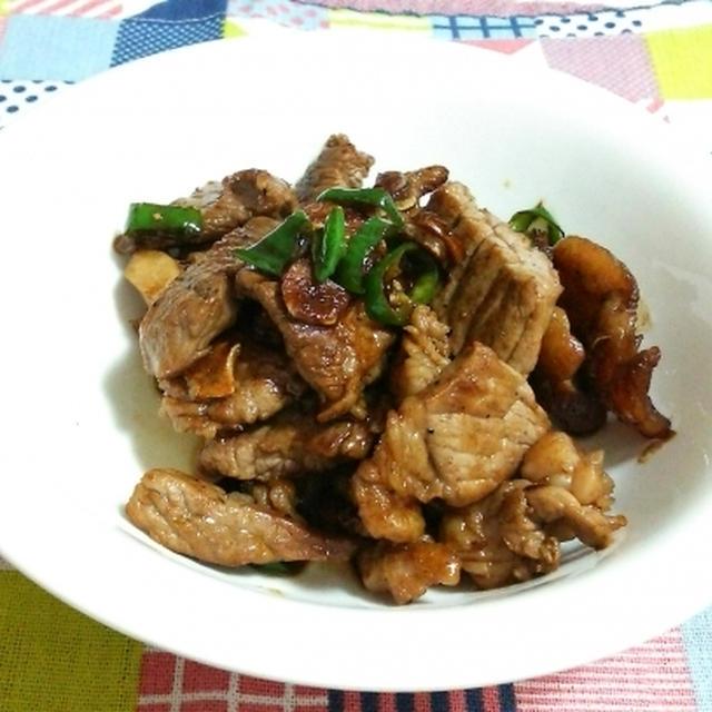 牛すじ肉のサイコロステーキ
