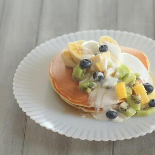 フルーツヨーグルトパンケーキ
