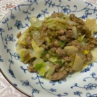 いの一番を使ってひき肉と白菜のオイスターマヨ炒め