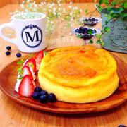 ♡材料3つ♡マジカルスフレフロマージュ♡【簡単スフレチーズケーキ】