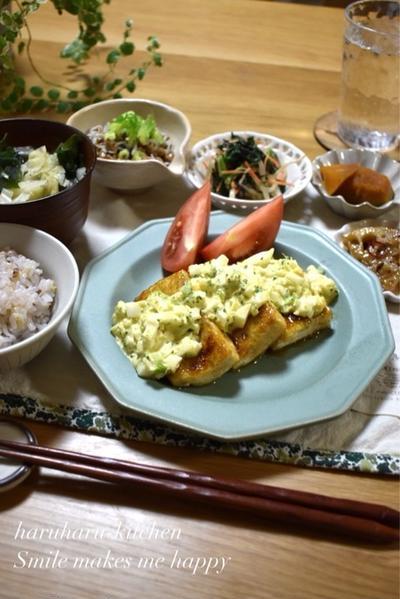 【レシピ】ブロッコリーを美味しく食べよう✳︎ブロッコリータルタルの照り焼き豆腐✳︎