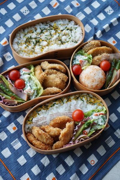 しっとり胸肉チキンカツ&アスパラきんぴら弁当(隠れミッキーあり)