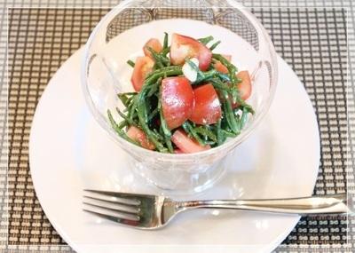 シーアスパラガスとトマトのサラダ