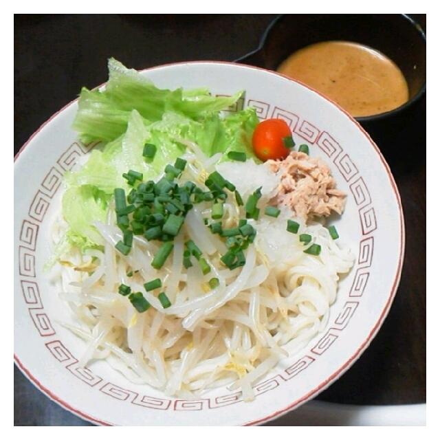 今日の夕ご飯☆サラダうどん