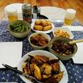 今年は地味なクリスマスツリー ~ ビールに合うおかず(麻婆茄子豆腐と ~ 牛筋の中華風冷菜