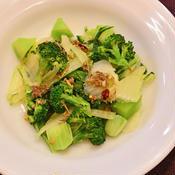 白菜とブロッコリーのアンチョビローズマリーソース