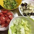 お家ごはん:そら豆とトマトのパスタ